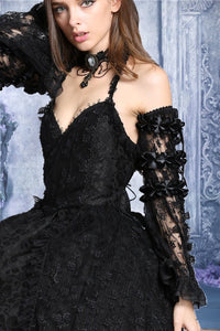 gothic lolita Crumple lace arm sleeve(price for one pair) ARW001 - Gothlolibeauty