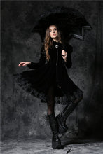 Load image into Gallery viewer, AUM004 Gothic lolita five angle shape waterproof telescopic umbrella parasol