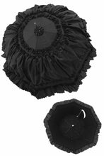 Load image into Gallery viewer, AUM008 Black lolita lady princess ruffles waterproof long umbrella parasol
