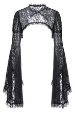 Load image into Gallery viewer, BW040 Gothic black lace cape with big sleeves - Gothlolibeauty
