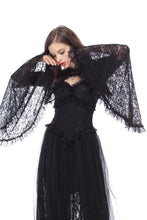 Load image into Gallery viewer, Gothic Black lace cape with big sleeves BW040 - Gothlolibeauty