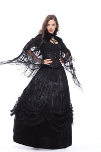 BW041 Gothic velvet cape with tassels lace