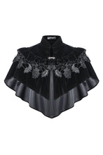 Load image into Gallery viewer, BW042 Gothic lolita cape with velvet and lace layer upon layer