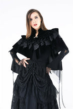 Load image into Gallery viewer, BW042 Gothic lolita cape with velvet and lace layer upon layer - Gothlolibeauty