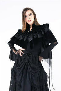 BW042 Gothic lolita cape with velvet and lace layer upon layer - Gothlolibeauty