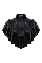 Load image into Gallery viewer, BW043 Gothic black cape hearted shaped capelet - Gothlolibeauty