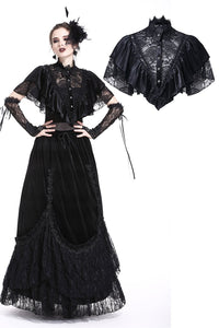 Sexy gothic lace hollow solf velvet capelet BW048 - Gothlolibeauty
