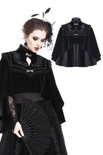 Load image into Gallery viewer, DARK IN LOVE Elegant gothic pattern collar velvet cape BW050 - Gothlolibeauty