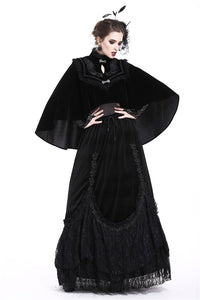 DARK IN LOVE Elegant gothic pattern collar velvet cape BW050 - Gothlolibeauty