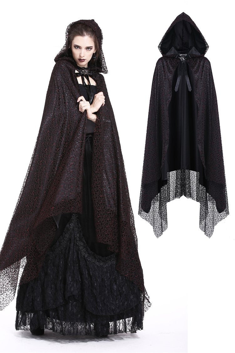 Gothic long cape gothic hooded cloak BW052 - Gothlolibeauty