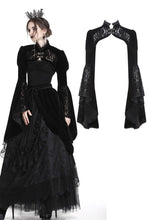 Load image into Gallery viewer, Dark bell lace sleeves gothic velvet bolero BW053 - Gothlolibeauty
