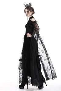 Romance gothic sexy cape with super long tulle sleeves BW054 - Gothlolibeauty