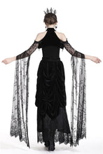 Load image into Gallery viewer, Romance gothic sexy cape with super long tulle sleeves BW054 - Gothlolibeauty