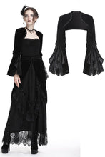 Load image into Gallery viewer, Gothic lolita Black velvet cape BW055 - Gothlolibeauty