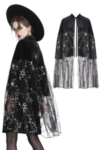 BW056 Wore 2 in 1 star mesh velvet moon cap-skirt