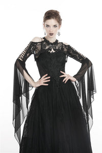 Gothic lace cape with sexy hollow BW059 - Gothlolibeauty