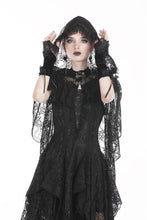Load image into Gallery viewer, Gothic gorgeous lace hooded cape BW061 - Gothlolibeauty
