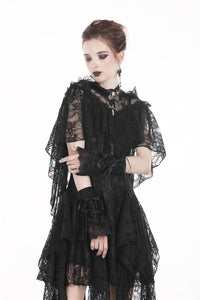 Gothic gorgeous lace hooded cape BW061 - Gothlolibeauty