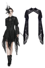 Load image into Gallery viewer, Gothic retro cape with long lacey sleeves BW062 - Gothlolibeauty