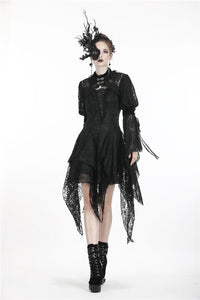 Gothic retro cape with long lacey sleeves BW062 - Gothlolibeauty