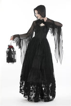 Load image into Gallery viewer, Gothic witch mesh hooded cape BW065 - Gothlolibeauty