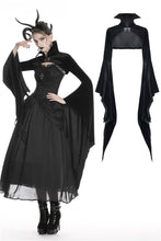 Load image into Gallery viewer, Gothic women velvet black vampire cape with bat big sleeves BW069 - Gothlolibeauty