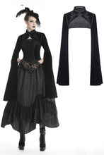 Load image into Gallery viewer, Gothic Black velvet witch cape with long big sleeves BW070 - Gothlolibeauty