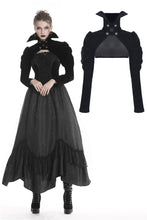 Load image into Gallery viewer, Gothic punk Black velvet cape with high collar BW071 - Gothlolibeauty