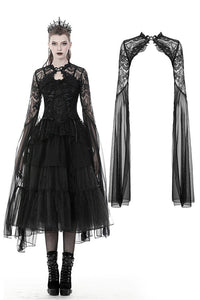 Gothic mesh and lace super long sleeves cape BW074