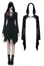 Load image into Gallery viewer, Gothic shining velvet witch cape with pointed cap BW077 - Gothlolibeauty