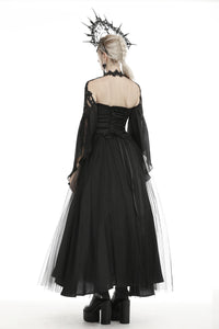 Gorgeous tulle big sleeves halter gothic cape BW080