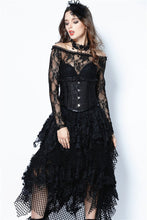 Load image into Gallery viewer, CW023 Gothic four buttons corset