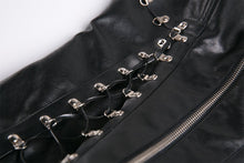 Load image into Gallery viewer, Punk PU leather corset with side rope design via metal D buckle CW026 - Gothlolibeauty