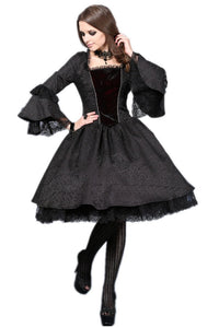 Victorian gothic dress with lace flare sleeve (not including petticoat)DW038 - Gothlolibeauty