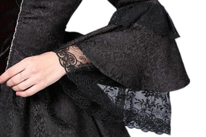 DW038 Victorian gothic dress with lace flare sleeve (not including petticoat)