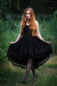 gothic noble cocktail dress no petticoat included - DW039 - Gothlolibeauty