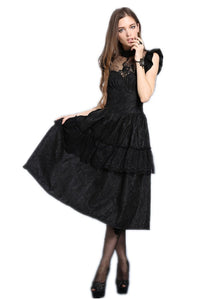 gothic lolita peacock dress summer women party Black dress (no petticoat included) DW043 - Gothlolibeauty
