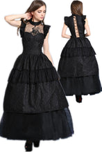 Load image into Gallery viewer, gothic lolita peacock dress summer women party Black dress (no petticoat included) DW043 - Gothlolibeauty