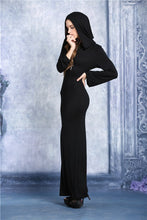 Load image into Gallery viewer, solf long T dress with back sexy hollow out DW051 - Gothlolibeauty