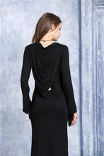 Load image into Gallery viewer, DW051 solf long T dress with back sexy hollow out