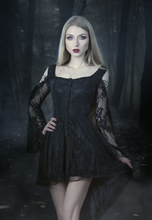 Load image into Gallery viewer, DW053BK Gothic dress of ghost cocktail lace with button row