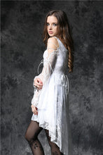 Load image into Gallery viewer, Gothic ghost cocktail lace dress with button row DW053WH - Gothlolibeauty