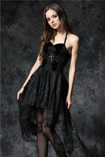 Load image into Gallery viewer, Gothique elegant dead souls cross dress with side long designs DW063 - Gothlolibeauty