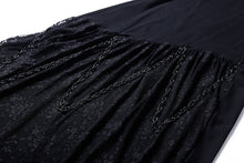 Load image into Gallery viewer, Gothic bat lace sleeve dress with oblique hem DW109 - Gothlolibeauty