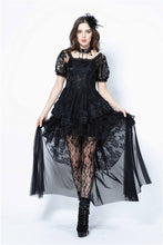 Load image into Gallery viewer, Gothic lolita puff sleeves lace tail dress DW129 - Gothlolibeauty