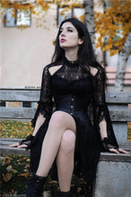 Load image into Gallery viewer, Gothic lace sexy dress with cat ear shape on top DW139 - Gothlolibeauty