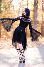 Load image into Gallery viewer, DW139 Gothic lace sexy dress with cat ear shape on top