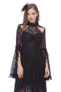 DW139 Gothic lace sexy dress with cat ear shape on top