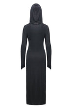Load image into Gallery viewer, Gothic long knitted hooded dress with hollow out cross DW148 - Gothlolibeauty