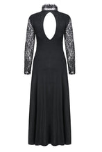 Load image into Gallery viewer, DW154 Gothic lace knitted long dress